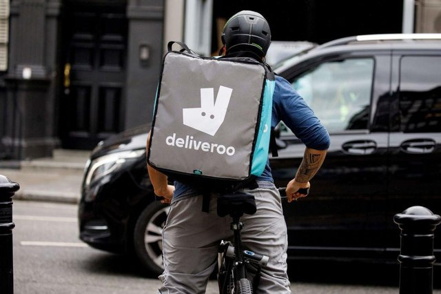 Deliveroo is launching in Washington. (Photo by TOLGA AKMEN/AFP via Getty Images)