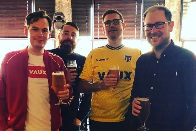 From left to right, Vaux Brewery's Matthew Jackson, Ross Palmer, Michael Thompson and Steven Smith.