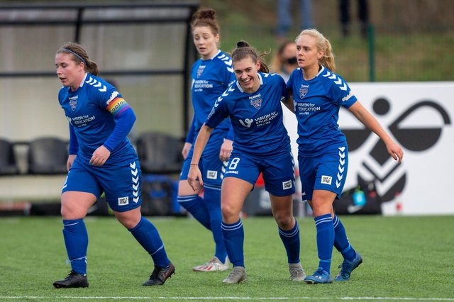 Durham Women midfielder Beth Hepple has been voted the North East Football Writers' Women's Player of the Year for 2020. (Photo credit: George Ledger Photography)