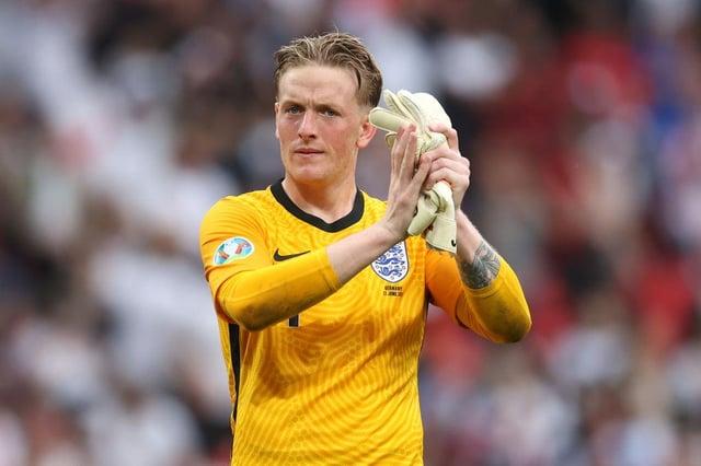 Ex-Sunderland goalkeeper Jordan Pickford playing for England.
