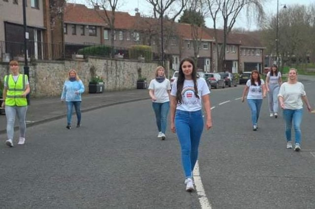 Members of the group taking part in the challenge