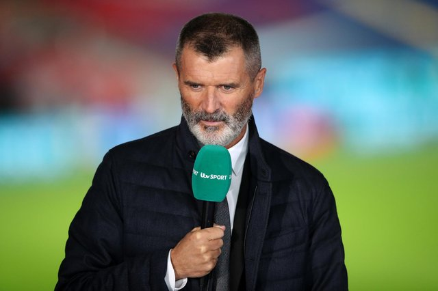 LONDON, ENGLAND - OCTOBER 08: Pundit, Roy Keane looks on following the international friendly match between England and Wales at Wembley Stadium on October 08, 2020 in London, England. Sporting stadiums around the UK remain under strict restrictions due to the Coronavirus Pandemic as Government social distancing laws prohibit fans inside venues resulting in games being played behind closed doors. (Photo by Nick Potts - Pool/Getty Images)