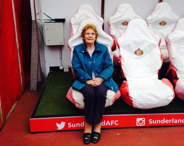 Sunderland supporter Margaret Roberts.
