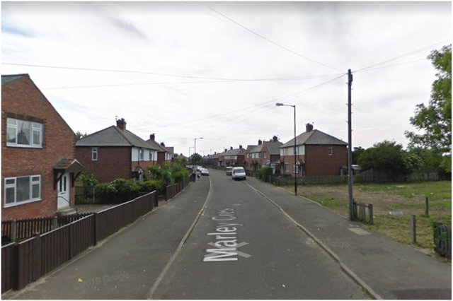 The incident took place on Marley Crescent in Sunderland. Image by Google Maps.