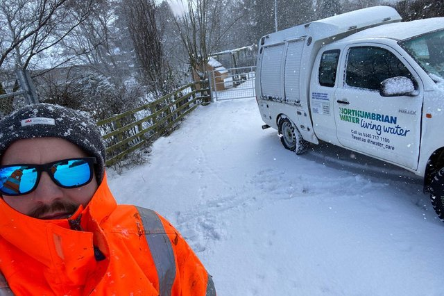 Roddy Perryman, a production operator for Northumbrian Water, has been out in all weathers in the course of his duties.