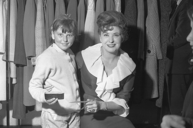 Pat Phoenix, who played Elsie Tanner in Coronation Street, is pictured opening March Tailors in Crowtree Road in 1962. Remember this?