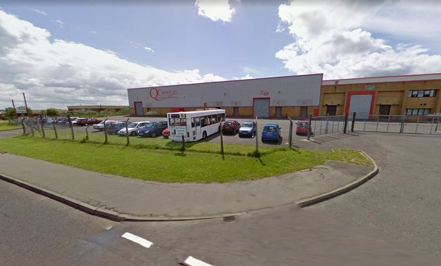 The break-in happened at QC Space in Cook Way, Peterlee. Image copyright Google Maps.