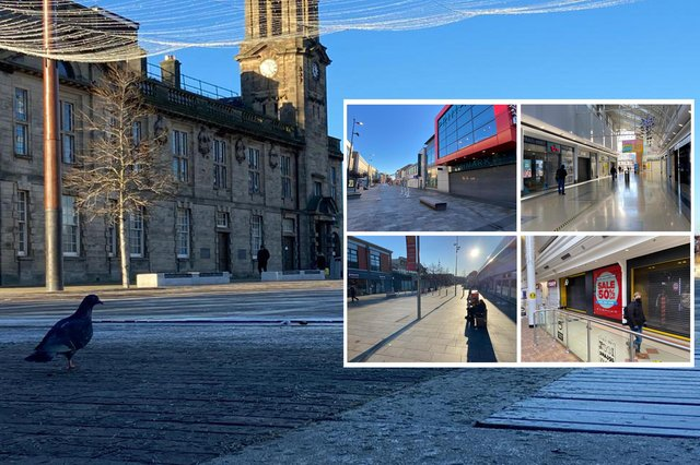 Most of Sunderland city centre's businesses were once again closed on the first day of new restrictions, and the final day of 2020.